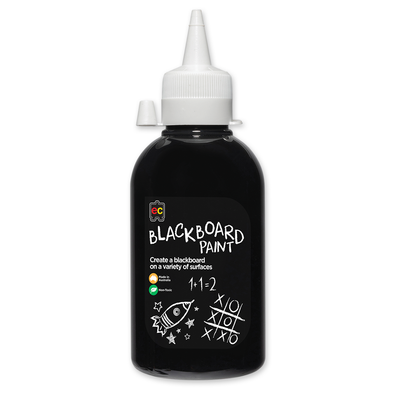 EC Blackboard Paint 250ml Black Suitable for Creating Blackboard on a Variety of Surfaces.