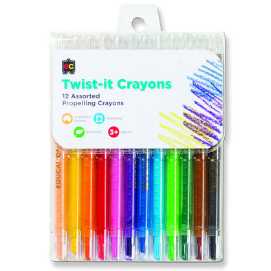 EC CRAYONS TWIST IT 12 PACK - School Depot NZ