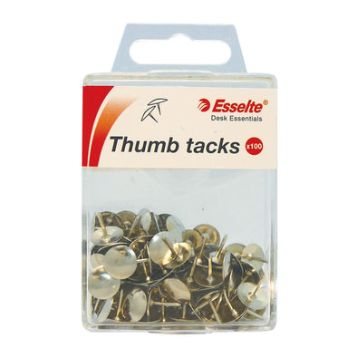 Esselte Drawing Pins Silver Pack 100