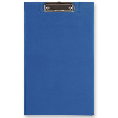 FM Clipboard with Flap Foolscap Blue
