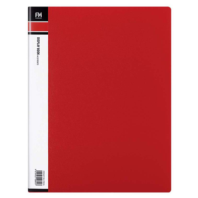 FM Display Book Clear File A4 20 Pocket Red