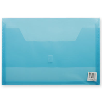 FM Polywally Document Wallet Transparent Blue