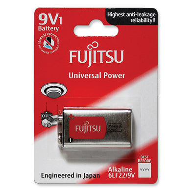 Fujitsu Batteries 9V Universal Power Alkaline