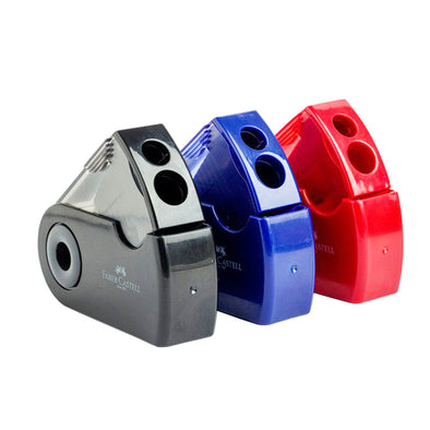 Faber-Castell Fan Shaped Pencil Sharpener 3 Colours - School Depot