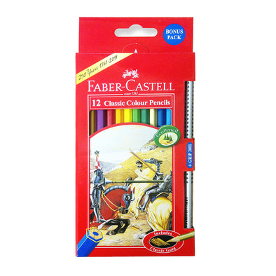 Faber-Castell Classic Coloured Pencils Full Length 12 Pack