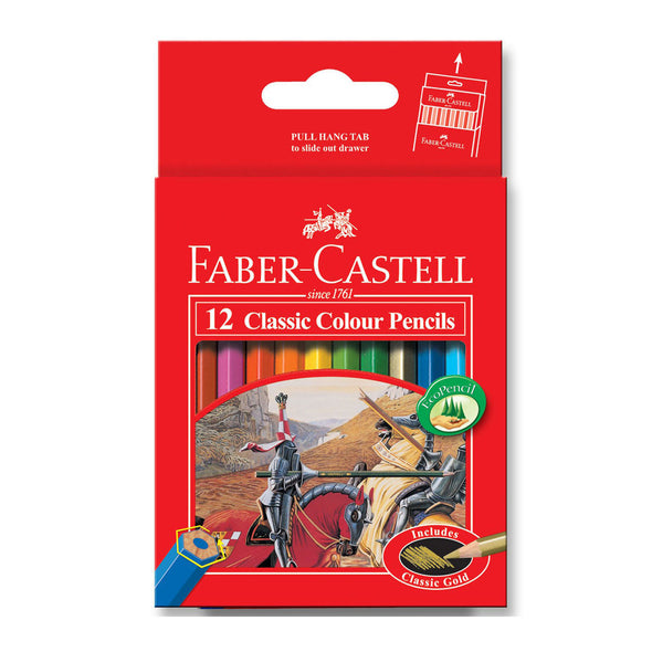 Faber-Castell Classic Coloured Pencils Half Length 12 Pack