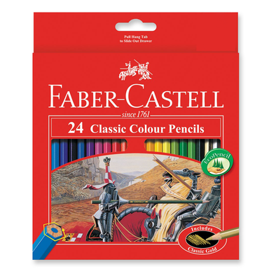 Faber-Castell Classic Coloured Pencils Full Length Pack of 24