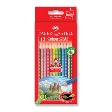 Faber-Castell GRIP Colour Pencils Full Length 12 Pack