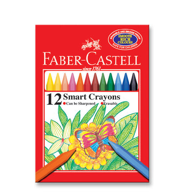 Faber-Castell Smart Plastic Crayon 12 Pack