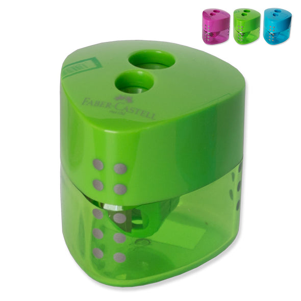 Faber-Castell Grip Pencil Sharpener 2-Hole Assorted