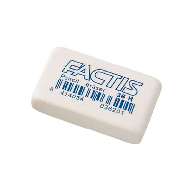 Factis Pencil Eraser 36R Soft White