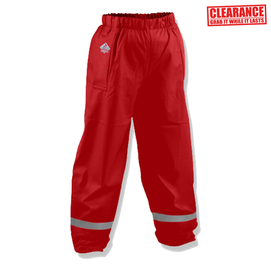 FlexBak Kids Waterproof Overtrouser Red Size 6-14
