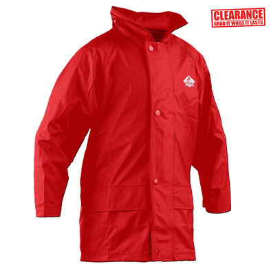 FlexBak Kids 100% Waterproof Raincoat Red Size 6 to 14