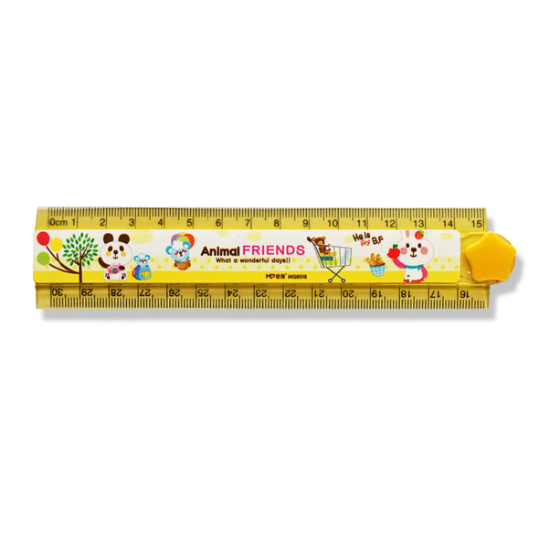 Kids Fold Away Ruler 15 / 30 cm - School Depot NZ  - 1