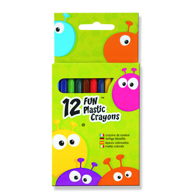 Fun Plastic Crayons 12 Pack