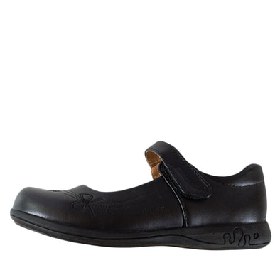 Sharon Girls School Shoes Black