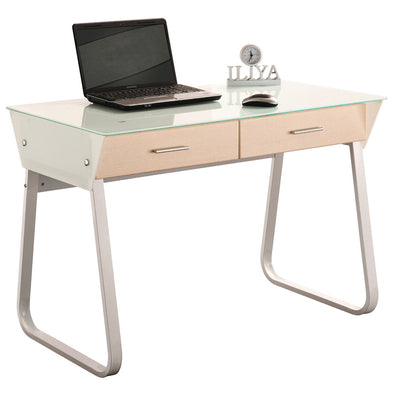 Glass Top Office Desk - School Depot NZ