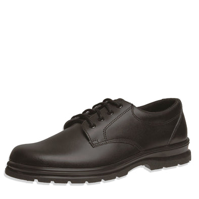 Grosby Leather Shoes Black Educate JNR 2 [Size 10-6 UK]