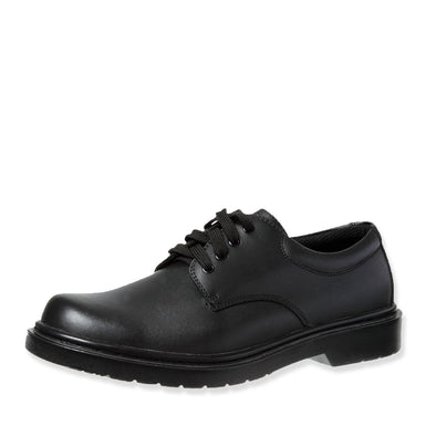Grosby Leather Shoes Black Hamburg SNR 2 [Size 7-12 UK]