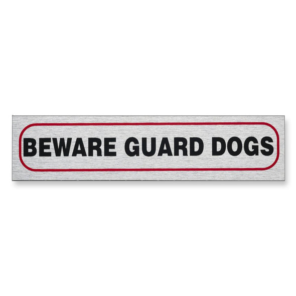 "Information Sign ""BEWARE GUARD DOGS"" 17 x 4 cm [Self-Adhesive]"