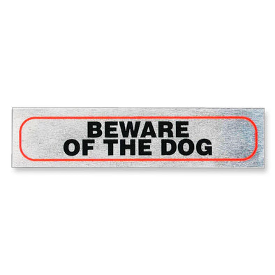 "Information Sign ""Beware Of The Dog"" 17 x 4 cm [Self-Adhesive]"