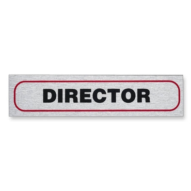"Information Sign ""DIRECTOR"" 17 x 4 cm [Self-Adhesive]"
