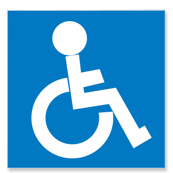 Apli Sign Disabled Blue & White 11.4 x 11.4 cm [Self-Adhesive]