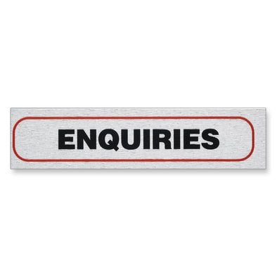 "Information Sign ""ENQUIRIES"" 17 x 4 cm [Self-Adhesive]"