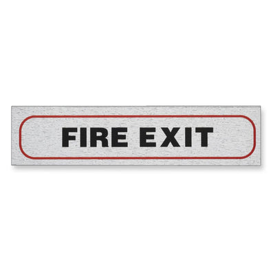 "Information Sign ""FIRE EXIT"" 17 x 4 cm [Self-Adhesive]"