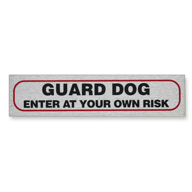 "Self-Adhesive Information Sign ""GUARD DOG - ENTER AT YOUR OWN RISK"""