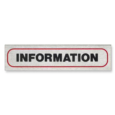 "Information Sign ""INFORMATION."" 17 x 4 cm [Self-Adhesive]"
