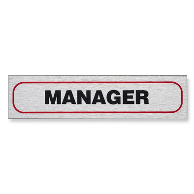 "Information Sign ""MANAGER"" 17 x 4 cm [Self-Adhesive]"