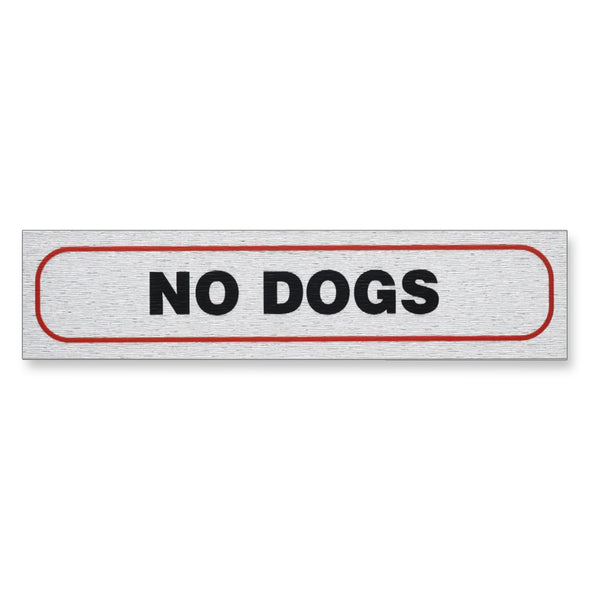 "Information Sign ""NO DOGS"" 17 x 4 cm [Self-Adhesive]"