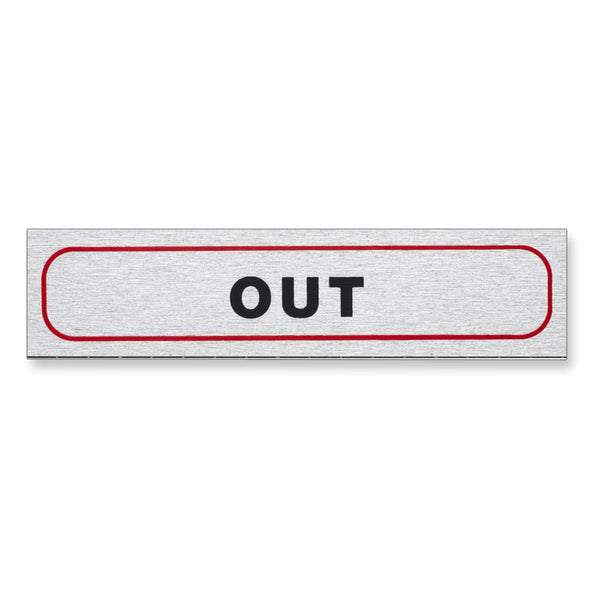 "Information Sign ""OUT"" 17 x 4 cm [Self-Adhesive]"