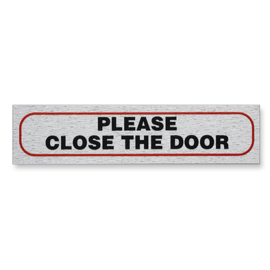"Information Sign ""PLEASE CLOSE THE DOOR"" 17 x 4 cm [Self-Adhesive]"