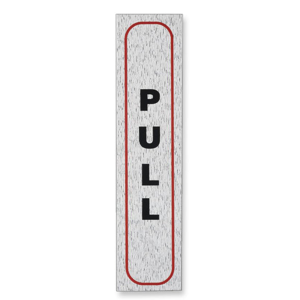 "Information Sign ""PULL"" 17 x 4 cm Vertical [Self-Adhesive]"