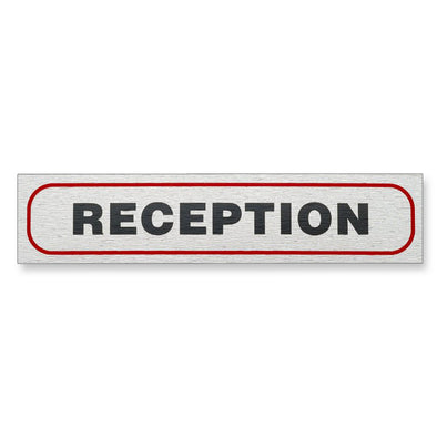 "Information Sign ""RECEPTION"" 17 x 4 cm [Self-Adhesive]"