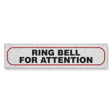 "Information Sign ""RING BELL FOR ATTENTION"" 17 x 4 cm [Self-Adhesive]"