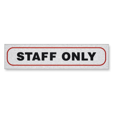 "Information Sign ""STAFF ONLY"" 17 x 4 cm [Self-Adhesive]"