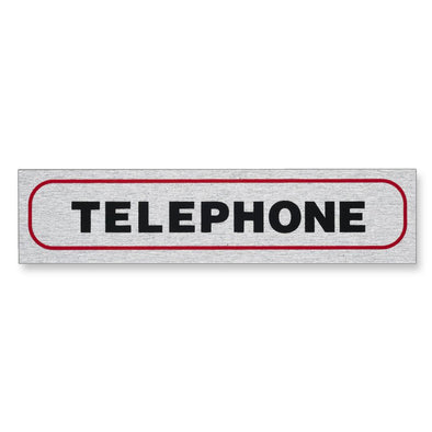 "Information Sign ""TELEPHONE"" 17 x 4 cm [Self-Adhesive]"