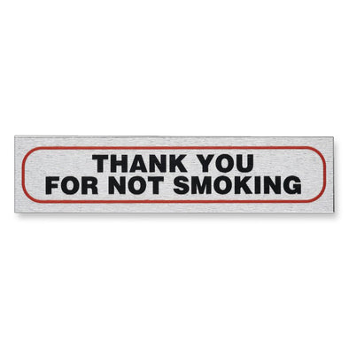 "Self-Adhesive Information Sign ""THANK YOU FOR NOT SMOKING"""