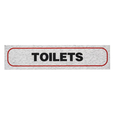 "Information Sign ""TOILETS"" 17 x 4 cm [Self-Adhesive]"