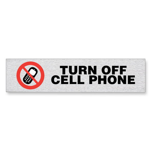 "Information Sign ""TURN OFF CELL PHONE"" 17 x 4 cm [Self-Adhesive]"