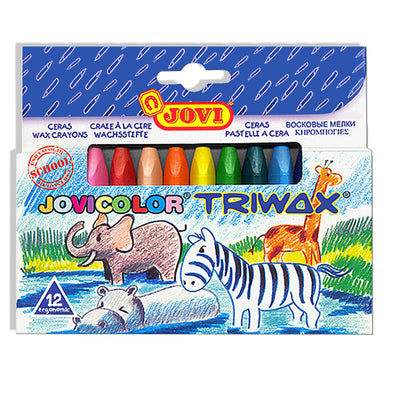 Jovi Triwax Crayons Pack of 12 [Triangular]