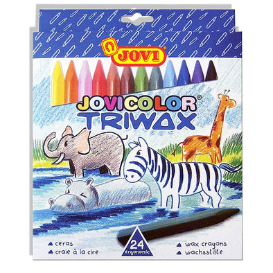 Jovi Triwax Crayons Pack of 24 [Triangular] - School Depot NZ