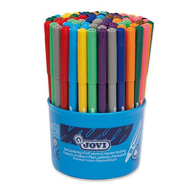 Jovi Washable Felt-Tip Pens Jar of 84 [Triangular]