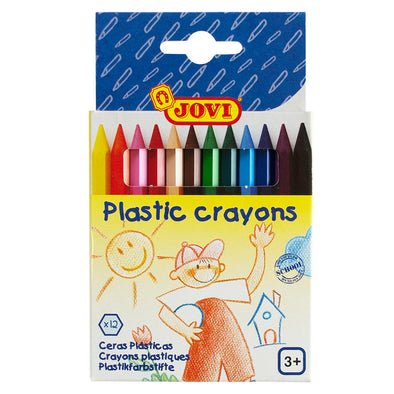 Jovi Crayons Plastic Pack 12 Hexagonal - School Depot NZ