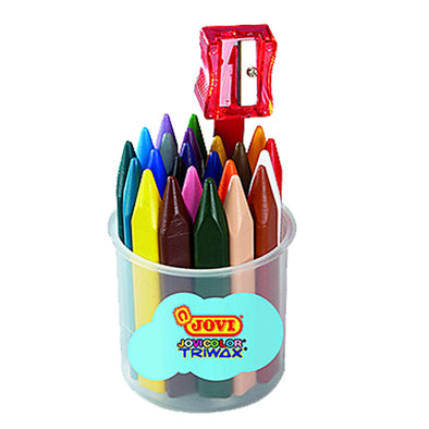 Jovi Wax Crayons Triwax Tub 24 - School Depot NZ