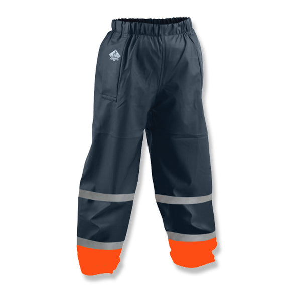 Tuffbak Flex Kids Waterproof Overtrouser - Navy / Orange - School Depot NZ