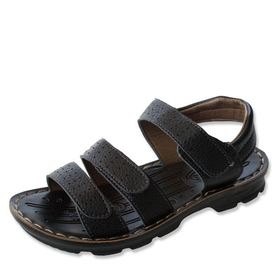 Junior Kids Sandals Unisex Black Flight Size 31-36